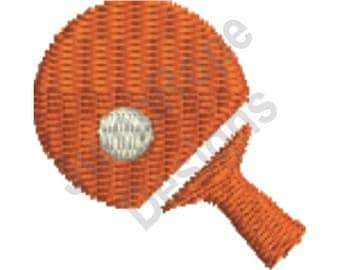 Table Tennis 1 - Machine Embroidery Design