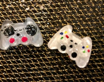 Mini Xray Markers Game Controller Customized with 2 Initials White/Gray