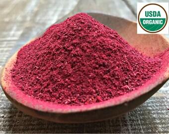 16oz - HIBISCUS FLOWER POWDER, Organic Hibiscus, hibiscus sabdariffa, hibiscus tea