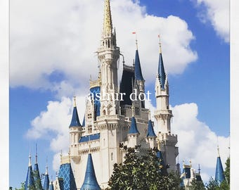 """Happiest Place on Earth 4x4"""" Print"""