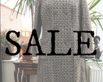15% OFF SALE || 1960's Houndstooth Tweed Coat