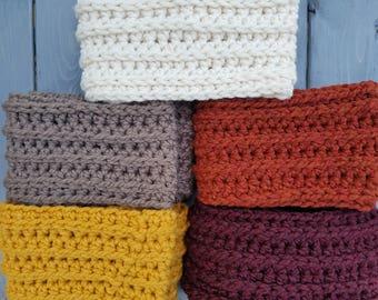 Chunky wool blend infinity scarf