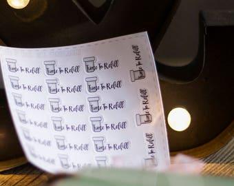 Prescription Refill Planner Stickers