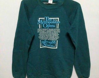 Vintage 80s The metropolitan opera sweashirt S
