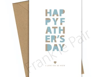 Happy Fathers Day,Father's Day gift,Dad quote,printable art,thank you Dad,digital dad card,instant download, gift for him,typography print