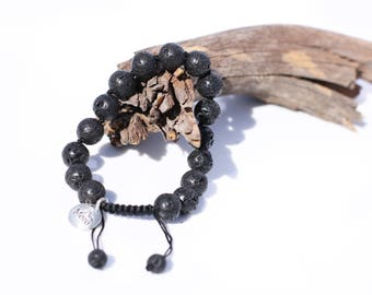 Premium Mala Beads Bracelet for Men - 10mm Mala Bead Bracelet Men – Lava Rock Bracelet – Lava Rock Bracelet