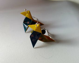 Origami cranes origami earrings