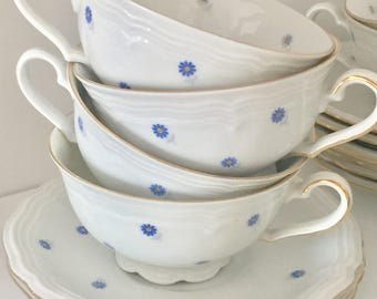 6 cups with saucers 6 Seltman Bavaria