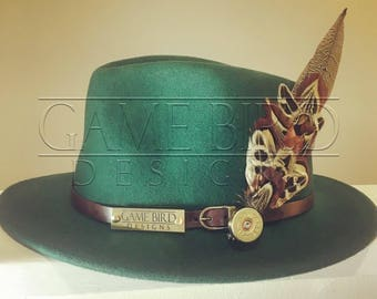 The Betty Fedora Hat and Pheasant Feather Pin