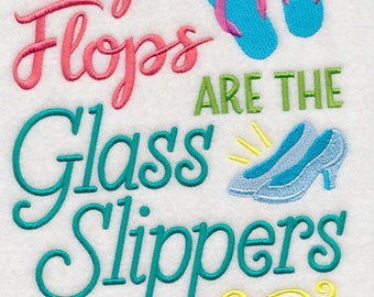 Flip Flops are the Glass Slippers of Summer (7 x 11) Iron-on Patch // Iron on Patch // Embroidered Patch // MADE TO ORDER