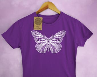 Butterfly Insect Print Ladies T-Shirt