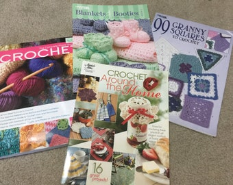 4 crochet books