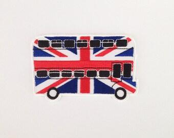 London Bus patch British bus applique patch