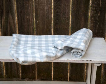 Gray and White Check Flannel Baby Blanket - Receiving Blanket - Stroller Blanket - Nursing Blanket - Gender Neutral Baby Shower Gift