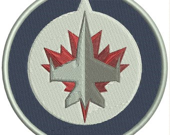 """The Winnipeg Jets are a professional ice hockey team logo Embroidery Design 4""""x4"""" and NHL logo 4""""x4"""""""