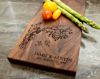 Personalized Cheese Board, Serving Board, Bread Board, Custom, Engraved, Wedding Gift, Housewarming Gift, Anniversary Gift, Engagement #9