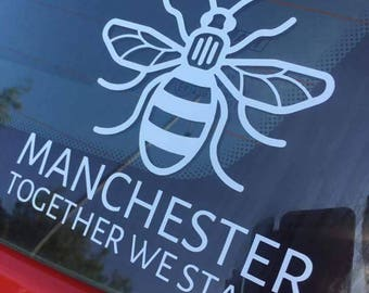 Manchester Bee Car Decal Sticker. In support of the victims and families of the MEN arena attack. We have already raised 1400 pounds