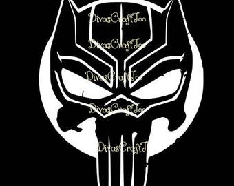 Black Panther Punisher SVG