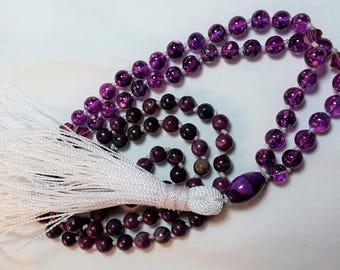 Fuchsia Hand-knotted 108 bead Mala