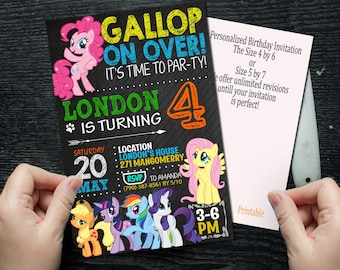 My Little Pony, My Little Pony Invitation, My Little Pony Birthday, My Little Pony, My Little Pony Party, My Little Pony Birthday Invitation