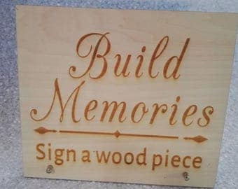 Custom made wood sign
