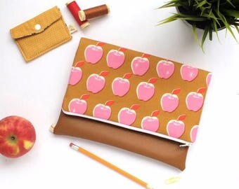 Apple Fold-over Clutch