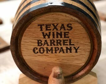 10 liter whiskey barrel with stand