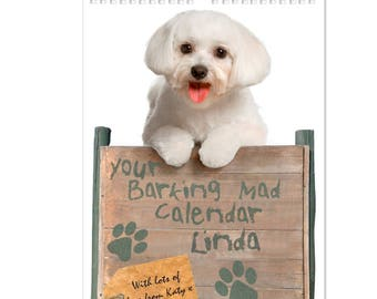 Personalised Your Barking Mad A4 Wall Calendar Gifts Ideas For Her Girls Womens New Home House Warming Years Kitchen