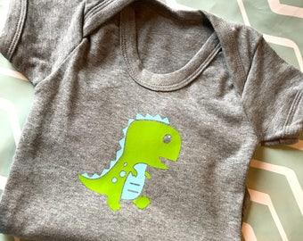 Personalised Custom Dinosaur baby body suit