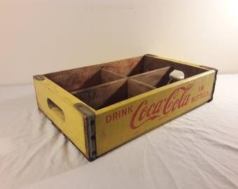 1969 Coca Cola Wooden Soda Crate
