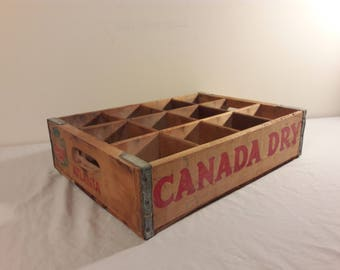 1975 Canada Dry Wooden Soda Crate