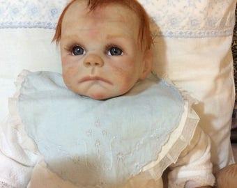 Baby carrot Reborn 50 cm grey hair eyes