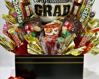 Graduation Gift Basket Candy Bouquet