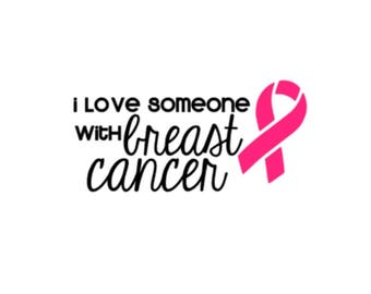 """Love Someone with Breast Cancer   5"""" Vinyl Decal   Spoonie   BCA Awareness"""