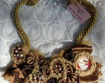 Santa girl necklace