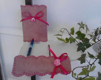 Creative sewing Journal KIT and its accessories in felt pen case