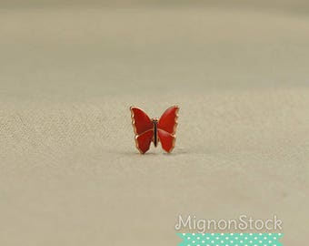 Red Butterfly - brass, copper