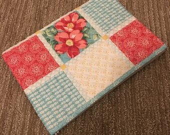 """13"""" Wide Quilted Zipper Pouch"""