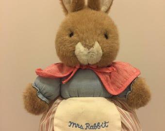 Beatrix potter mrs rabbit plush