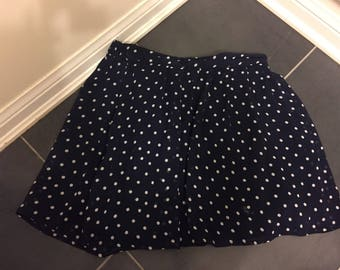 Retro polka dot skirt knee length size small