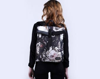 Backpack for Women,Canvas Rucksacks for Women,Girls Backpacks,Hipster Rucksacks, Gift for Her,City Backpack,Floral Backpack