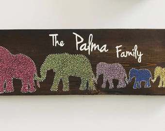 Elephant Family Sign