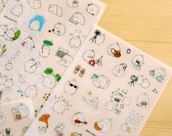 6 sheets Molang Rabbit Stickers set, planner stickers, bullet journal, craft stickers, planner accessories, molang stickers, diary stickers