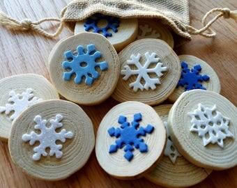 Snowflake Matching Holiday Memory Match Up Montessori Waldorf Educational Games Reggio Inspired Loose Parts Preschool Kindergarten Learning
