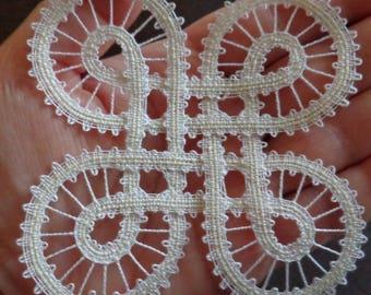 Bobbin lace pattern     BUTTERFLY