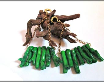 Coral ear weights,green coral ear weights,brass ear hangers