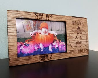 Customized 4 x 6 First Halloween Picture Frame