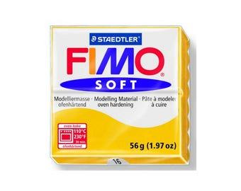 Polymer clay Fimo Soft 57 g - Yellow Sun No. - 16
