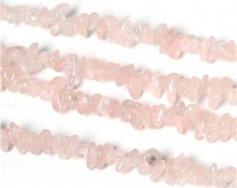 Rose Quartz stone 3-5 mm approx - coral bead