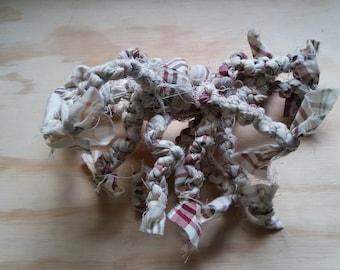 Handmade dog tug toy